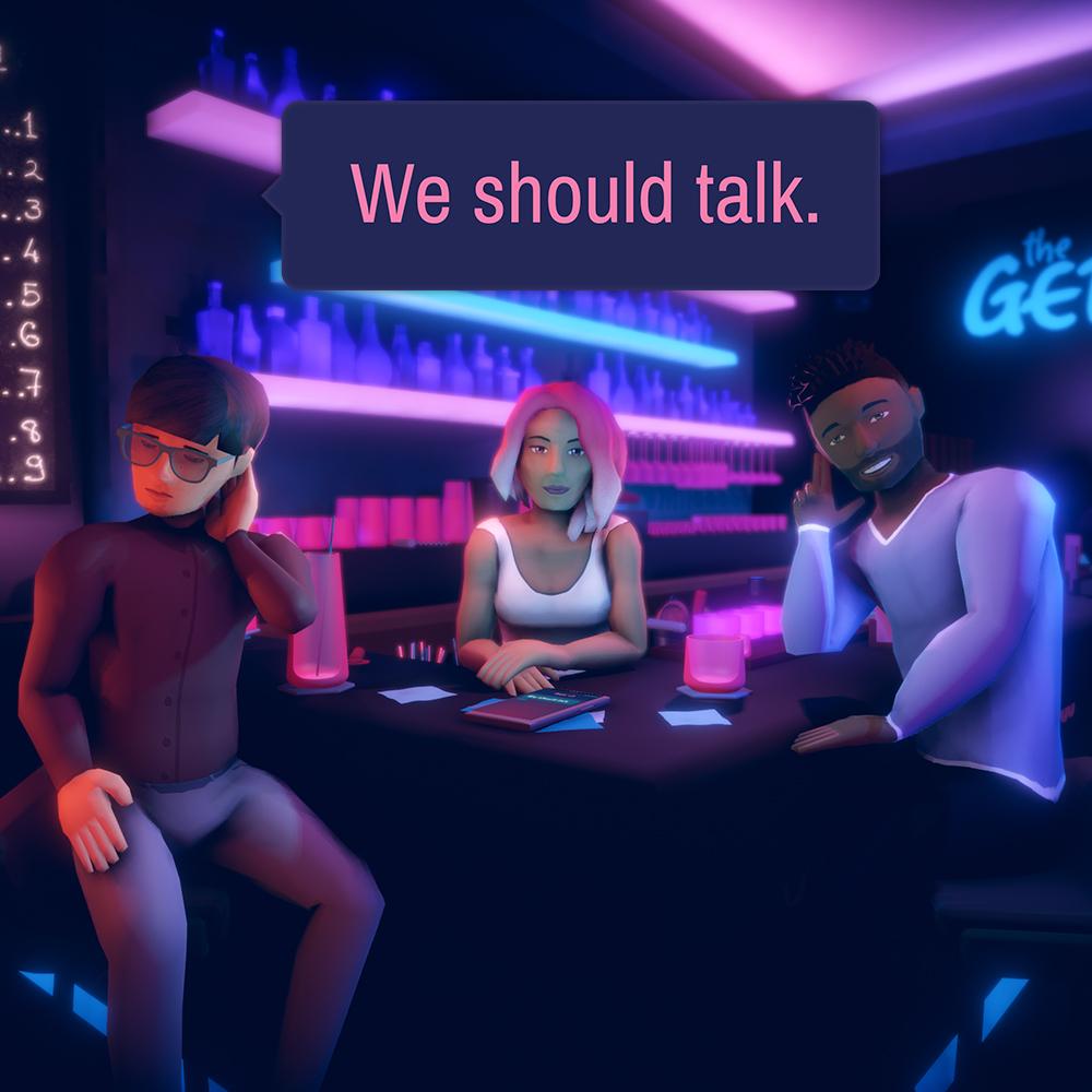We should talk. Icon